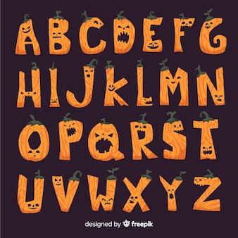 Alfabet dyni na wydarzenie halloween