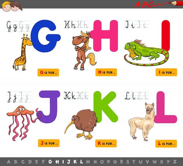 Alfabet edukacyjny kreskówka dla dzieci