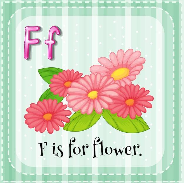 Alfabet f oznacza kwiat