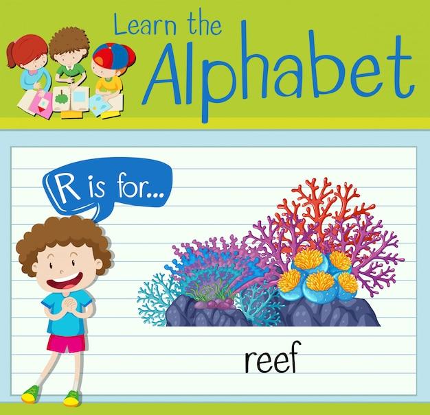 Alfabet flashcard r jest dla rafy
