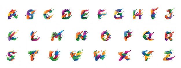 Alfabet gradientu dla logo