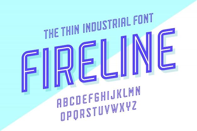 Alfabet i czcionka fire line