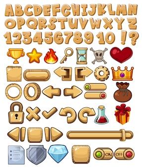 Alfabet i ikona gry