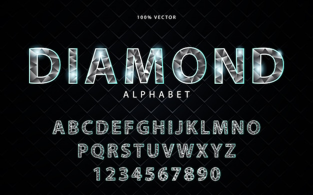Alfabet jasny diament