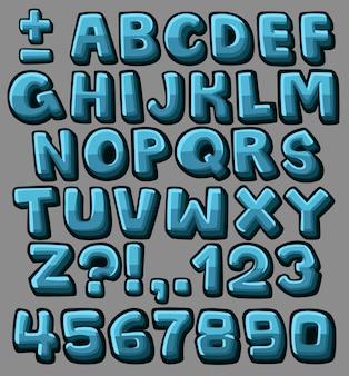 Alfabet kreskówka niebieski