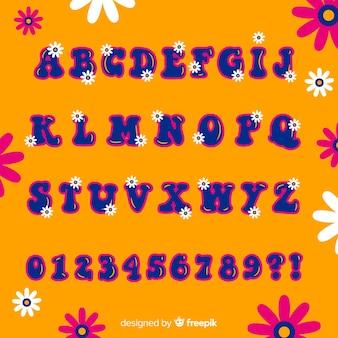 Alfabet kwiatowy lat 60-tych