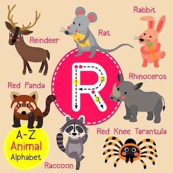 Alfabet litery r zoo
