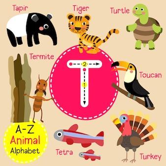Alfabet litery t zoo