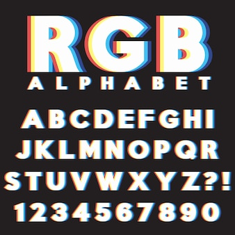 Alfabet litery z cyframi