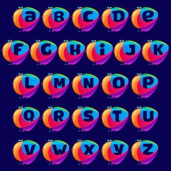 Alfabet logo w ikonę przecięcia trójkąta.