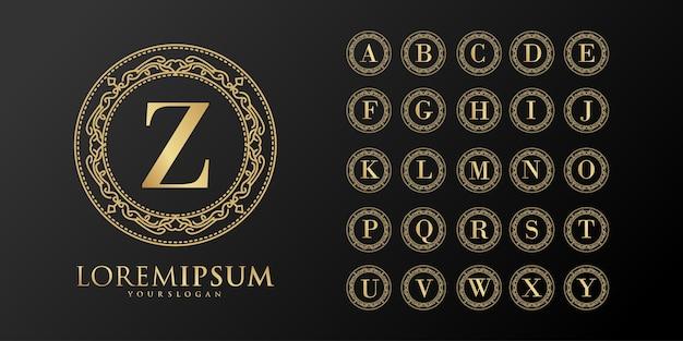 Alfabet luksusowa odznaka początkowa logo