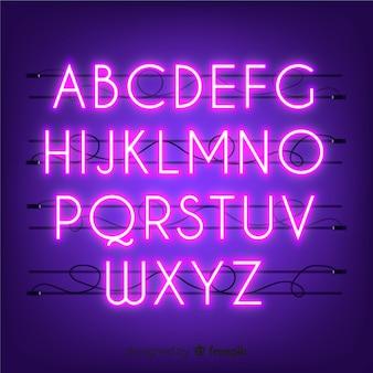 Alfabet neon