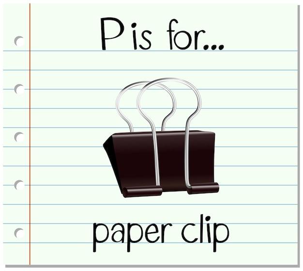 Alfabet p jest na spinacz do papieru