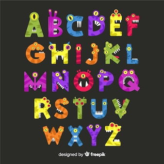 Alfabet potwora koncepcja