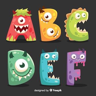 Alfabet potworów halloween