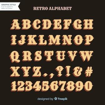 Alfabet retro