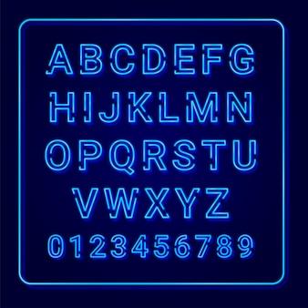 Alfabet rocznika neon