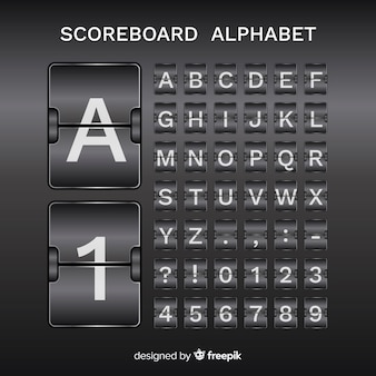 Alfabet scorebaord