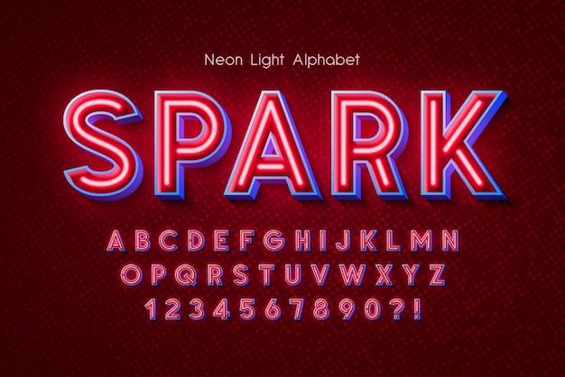 Alfabet światła neonowego, dodatkowe świecące czcionki