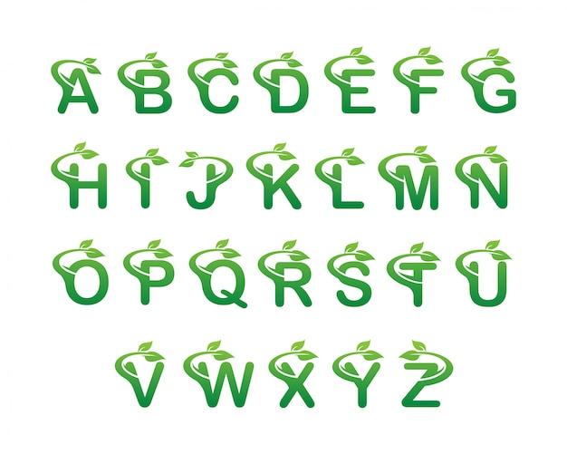 Alfabet świeżych liści