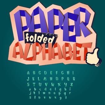 Alfabet szkolna zabawa składany papier