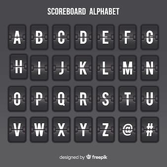 Alfabet tablicy wyników