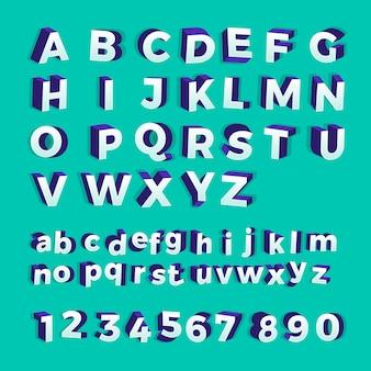 Alfabet ustawić pogrubioną czcionkę. zilustrować.