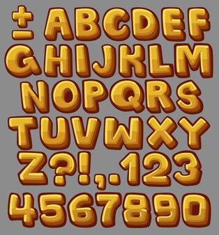 Alfabet żółty kreskówka