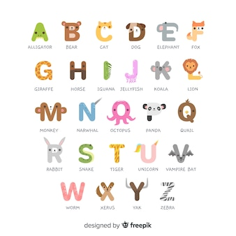 Alfabet zwierząt od a do z