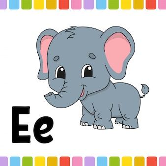 Alfabet zwierząt. zoo abc. kreskówka słodkie zwierzę