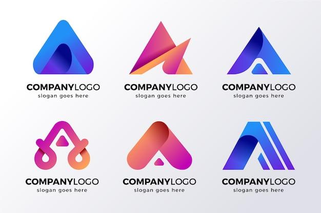 Alfabetyczna litera kolekcja logo