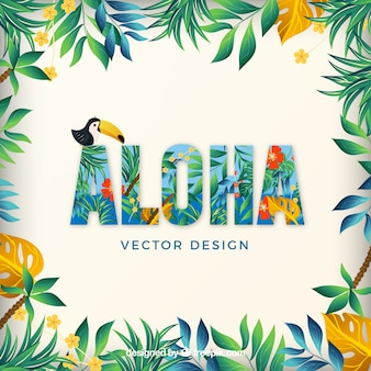 Aloha hawaii letni pakiet wektor relaks