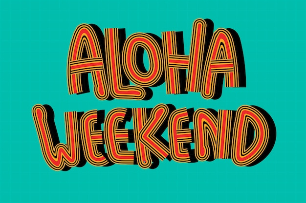 Aloha weekend retro zielona tapeta