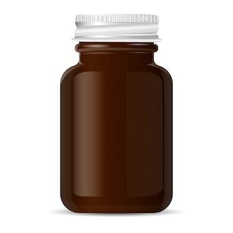 Aluminiowa pokrywka butelka apteczna na produkty medyczne