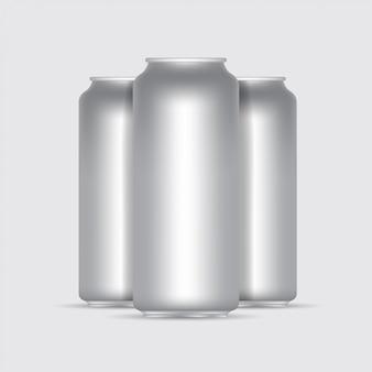 Aluminiowa pusta 3d wektorowa ilustracja