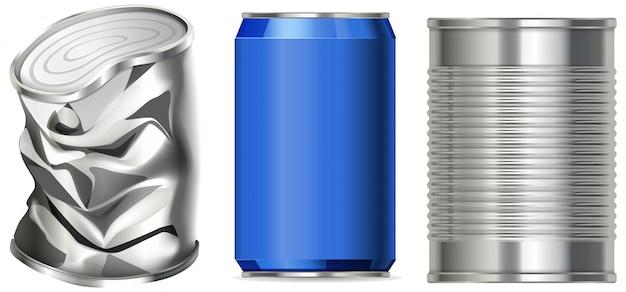 Aluminiowa puszka bez etykiety
