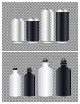 Aluminiowe butelki i puszki