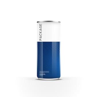 Aluminiowe puszki do napoju energetycznego z sokiem piwnym lub opakowaniem sody makiety wektora projektu szablonu