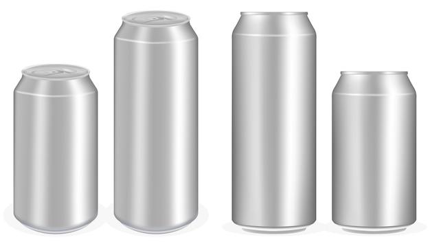 Aluminiowe puszki napoju wektor