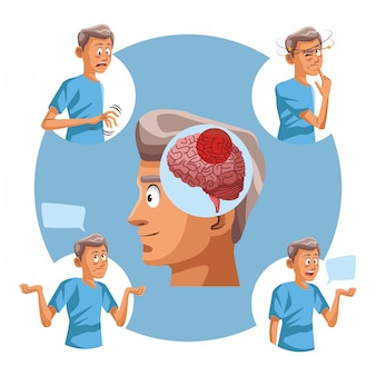 Alzheimer postać starego człowieka
