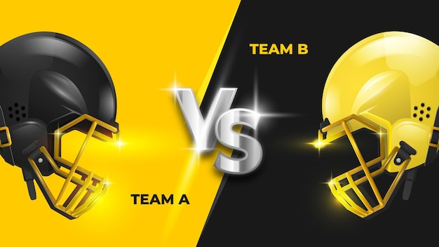 American football versus vs szablon banner