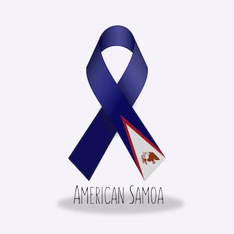 American samoza flagi wstążki projektu