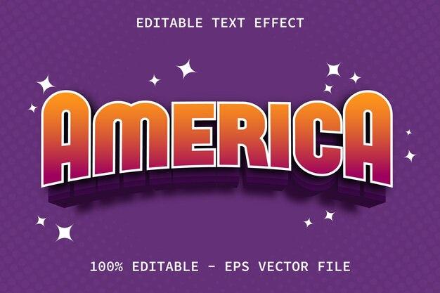 Ameryka z efektem edycji tekstu w nowoczesnym stylu gry