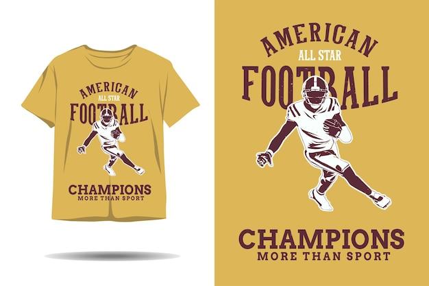 Amerykańscy mistrzowie piłki nożnej z gwiazdami więcej niż projekt koszulki o sylwetce sportowej