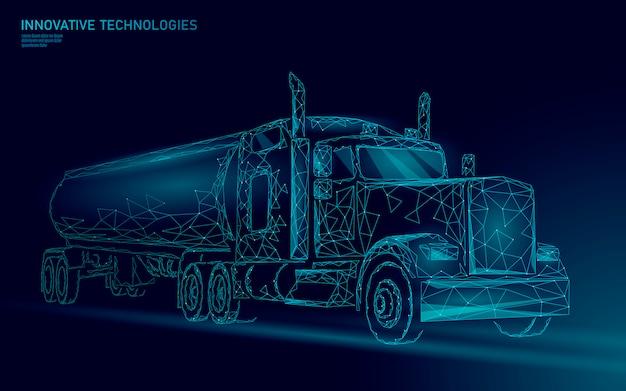 Amerykańska ciężarówka. przyczepa do transportu logistycznego.