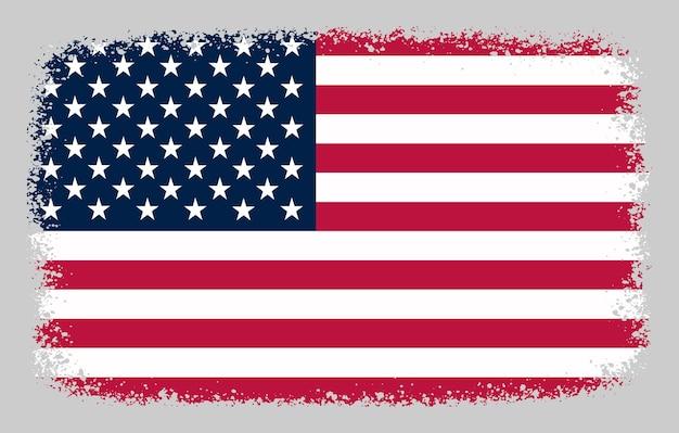 Amerykańska flaga grunge