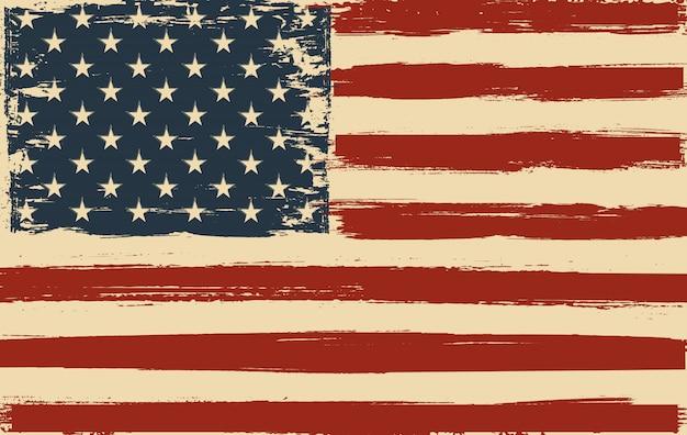Amerykańską flagę obrysu pędzla