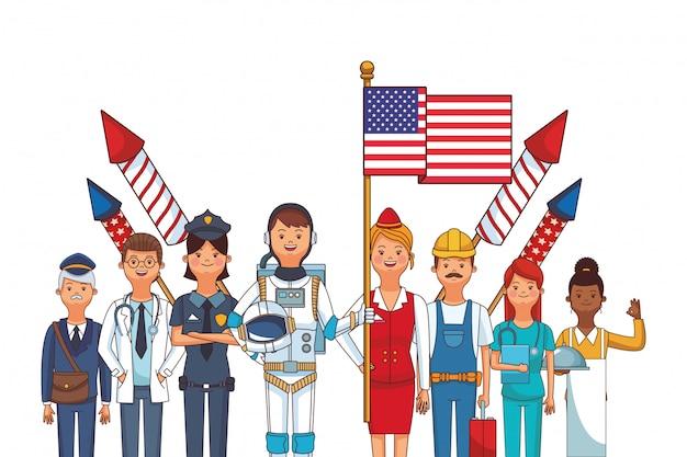 Amerykańska kreskówka dzień pracy