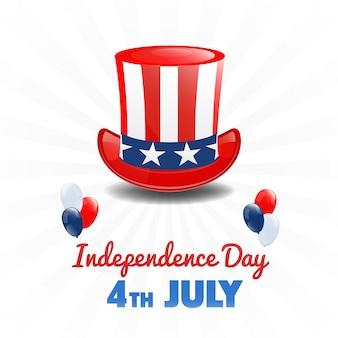 Amerykański dzień niepodległości. 4 lipca święto usa. dzień niepodległości