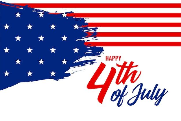 Amerykański dzień niepodległości 4 lipca w tle
